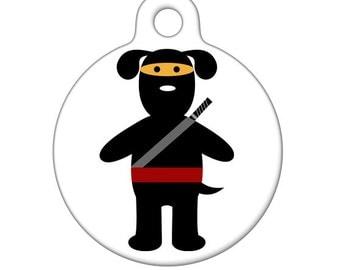 Pet ID Tag - Ninja Dog Pet Tag, Dog Tag, Luggage Tag, Child ID Tag