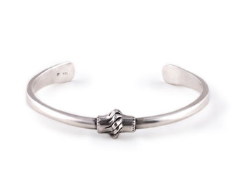 Silver Cuff Bracelet | Hand Forged Jewelry | Arts and Crafts Mission Style
