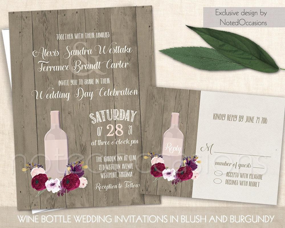 Rustic Wedding Invitation Vineyard Wine Country Wedding – Wine Country Wedding Invitations