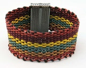 Leather Woven Bracelet Earth colors