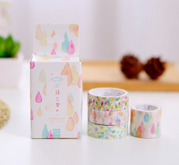 4 rolls japanese washi tape masking tape decoration tape from jolintsai on etsy studio. Black Bedroom Furniture Sets. Home Design Ideas