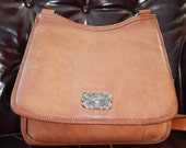 Authentic Vintage FOSSIL Saddlebag ~Equestrian Crossbody Purse~Southwestern Flare