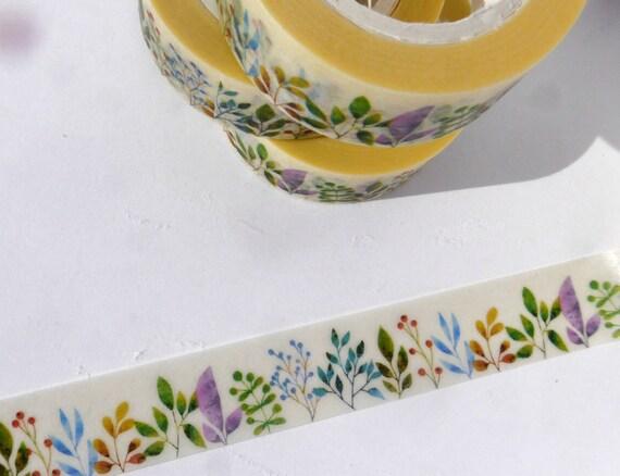 Naturaleza Washi Tape  arbustos coloridos por funkydreamsmosaics