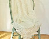 Vintage Baby Crib Skirt Dust Ruffle Mattress Coverlet Baby Blanket Vintage Newborn Gift Lightweight Washable Baby Throw Decor