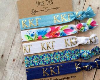 Boutique Elastic Hair Ties kappa kappa gamma hair ties 5 pack - awesome gift