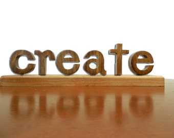 CREATE: Wooden Word Game Puzzle Educational Fun Toy