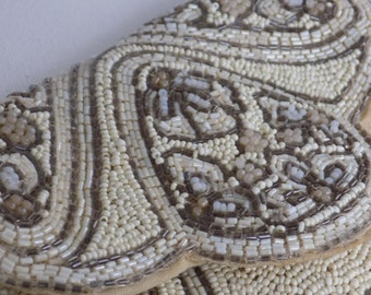 Vintage purse, hand made in France, beaded purse,evening bag,hand strap,antique purse, woman's accessory