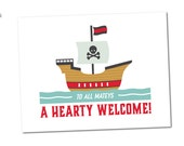 Welcome Sign, Birthday Party Décor // PIRATE SHIP