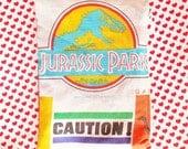 Jurassic Park logo Trex  vintage style zipper pencil bag cosmetic bag