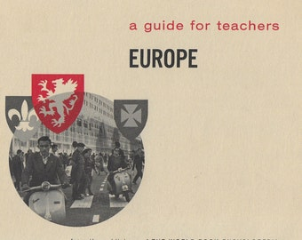 Vintage Mid Century Teacher's Guide - Europe