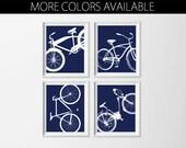 Bicycle Art Prints , Kid's Room Bike Wall Art , Nursery Boy Wall Decor , Nursery Bike Wall Art Prints , Navy Nursery Boy , Big Boy Room Art