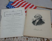 Antique Presidential Portraits 1888 First 22 Presidents of The United States