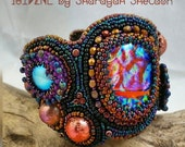 LoveU SUNSET at the LAKE House :Bead Embroidered Cuff