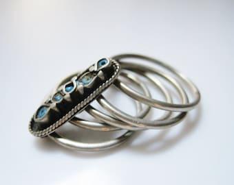 Ethnic Ring, Nomadic Woman Ring, Multi Band Ring, Vintage Jewelry, Nomadic Jewelry, Ethnic Ring