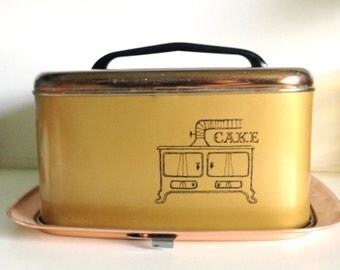 Mid Century Modern Lincoln Beautyware Metal Cake Carrier Saver