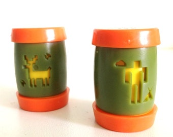 Vintage St. Labre Indian School Salt/Pepper Shakers 1970s