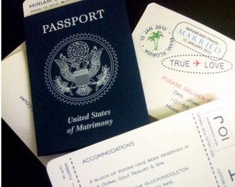 Passport Save-The-Date Invitation
