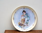 Vintage Victorian Girl Bathing Doll Collectors Plate by Maud Humphrey Bogart