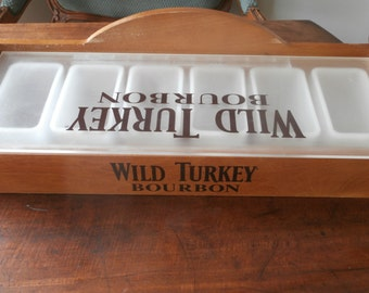 Wild Turkey Bourbon Condiment Tray Holder Home Bar Man Cave