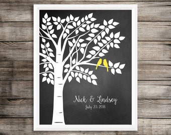 Guest Book Tree, Wedding Guest Book Alternative, Chalkboard Wedding Guest Book, Guestbook Alternative, Guestbook Tree Print