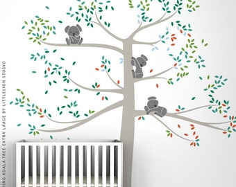 Special Edition Wall Decal Spring Koala Tree Extra Large by LittleLion Studio. Multicolor