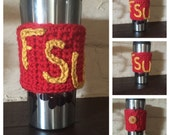 FSU Cup Cozy, FSU Coffee Cup Cozy, Cup Cozy, Coffee Cup Cozy, Cup Sleeve, Cup Sweater