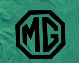 Classic MG British Racing Green T-shirt - MG Tribute. Vintage MG shirt, Classic car shirt.