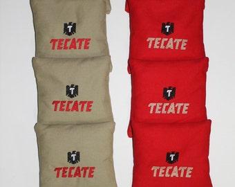 TECATE BEER Cornhole ACA Embroidered Bean Corn Toss Bags Regulation New