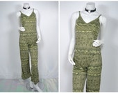 90s club kid green two piece tank pants outfit