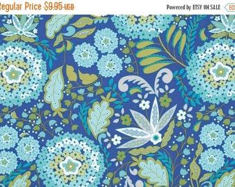 SALE - LITTLE AZALEA - Dena Fishbein Designs - Lantana in Aqua  Pwdf178 - Free Spirit Fabric - By the Yard