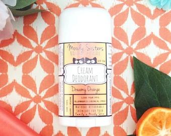 Orange Cream Organic Deodorant - Natural Vegan Deodorant Organic Dreamy Orange