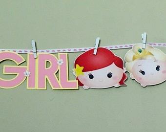 Tsum Tsum DISNEY PRINCESSES Baby Shower Party Banner