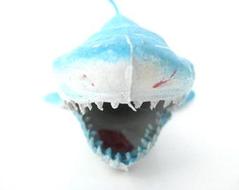 Vintage Rubber Shark // Jaws // Ocean // Found Object // Beach // Summer // Decor // Great White // Bathtub Toy // Supplies