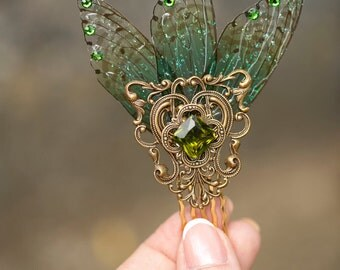 Kappa  Brass Forest Fairy comb