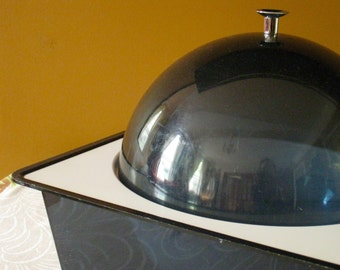 Mid Century Ice Bucket Lucite Mod Plastic Dome Ice Bucket or Food Server 1960s 1970s Decor