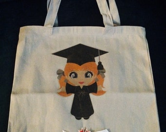 Tote, Bag, Graduate Young Lady