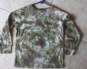 Tie Dye Kid's Camo Long Sleeve Shirt