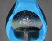 Boro Glass Lampwork Sparkle Mushroom Pendant Borosilicate Bead Collection