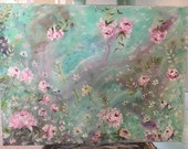 Wimsical Flowers on 18x24 canvas