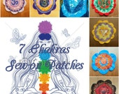 Chakra PATCH, Om, Sew-on, Psychedelic, Flower, Textile, Festival, Accessory, Hippy