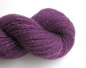 Heavy Lace Weight Recycled Alpaca Blend Yarn, Purple, Lot 040516