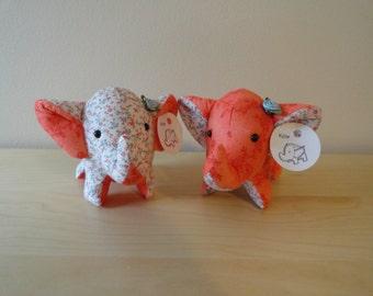 Tiny Stuffed Best Friends Elephants- Rylie and Kylie