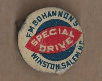 F.M. Bohannon's Special Drive Vintage Tobacco Tag, 1920s