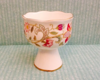 Vintage Minton, Haddon Hall, Compote, Egg Cup, Candle Holder, Signed