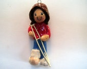girl with crutch ornament handmade bread dough