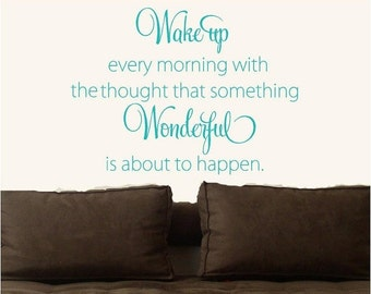 15% OFF Wake up every morning  Vinyl Lettering wall words quotes graphics decals Art Home decor itswritteninvinyl