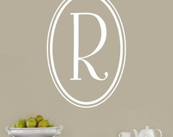15% OFF Monogram  wall decals -   Last name Vinyl Lettering wall words decal  personalized  family monograms graphics Home decor itswritteni