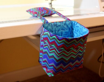 Thread Catcher / Scrap Caddy / Pincushion / by Kaffe Fassett- Lapis Color Story-  MW