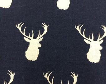 Navy Bucks - Quilting Cotton Fabric - BTY