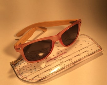 Red Seaglass Sunglasses with Case